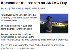 Pauline Longdon featured on 4BC.com.au